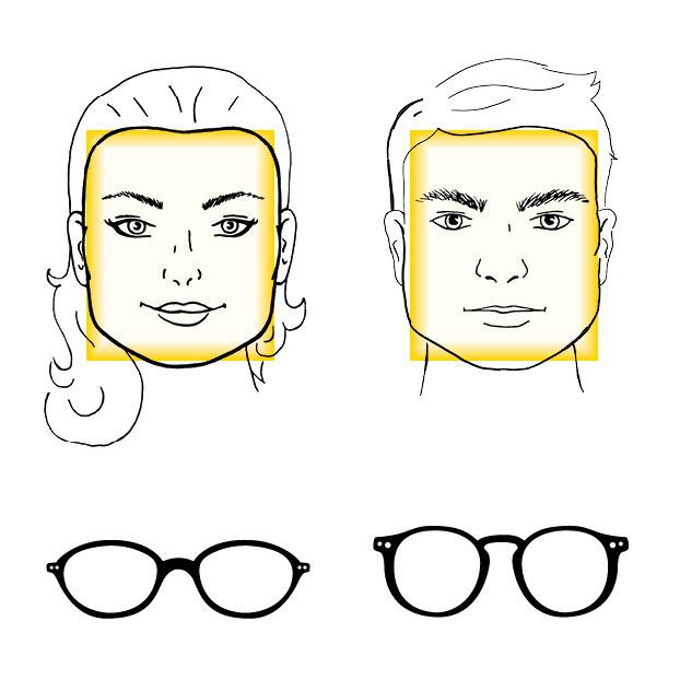 32699a701b5c35 Brillen voor een vierkant gezicht