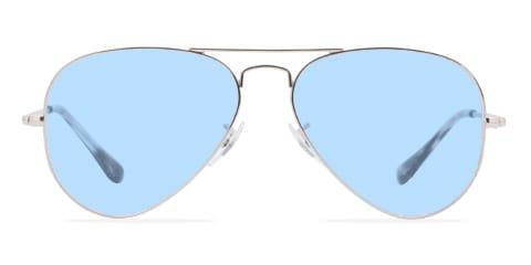 Lunettes de soleil avec des lunettes bleues