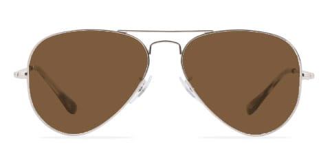 Lunettes de soleil avec lunettes marron