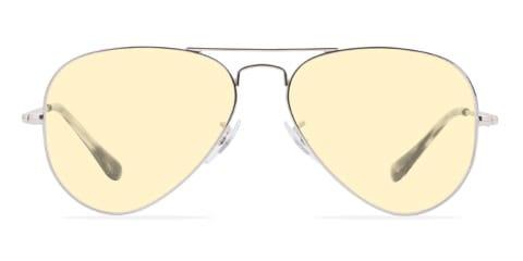 Lunettes de soleil avec des lunettes jaunes