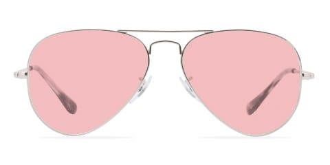 Lunettes de soleil avec des lunettes roses