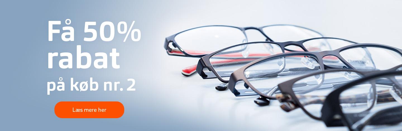 Tilbud på briller, solbriller og kontaktlisner spar 50