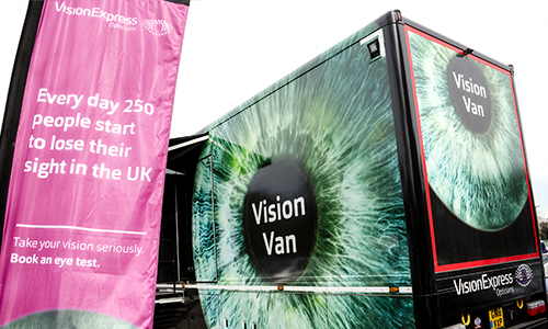 Vision Express: The Vision Van.