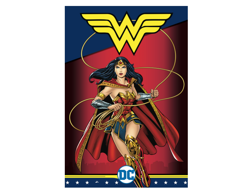 An illustration of Wonder Woman.