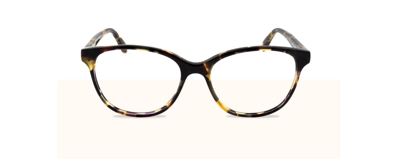 A pair of tortoiseshell Mulberry glasses with clear prescription lenses.