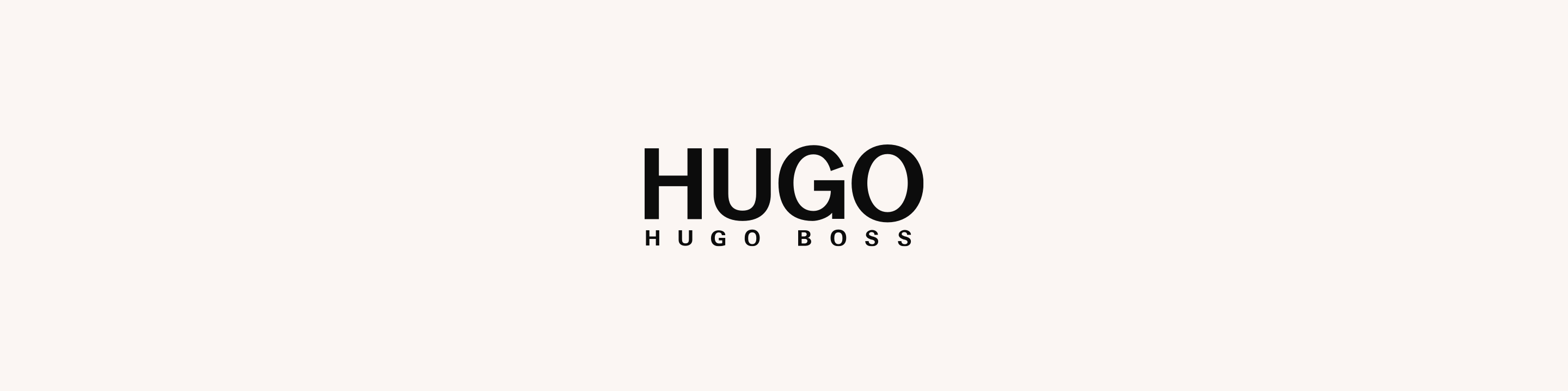 Hugo Boss logo in black sans-serif text against a plain background.