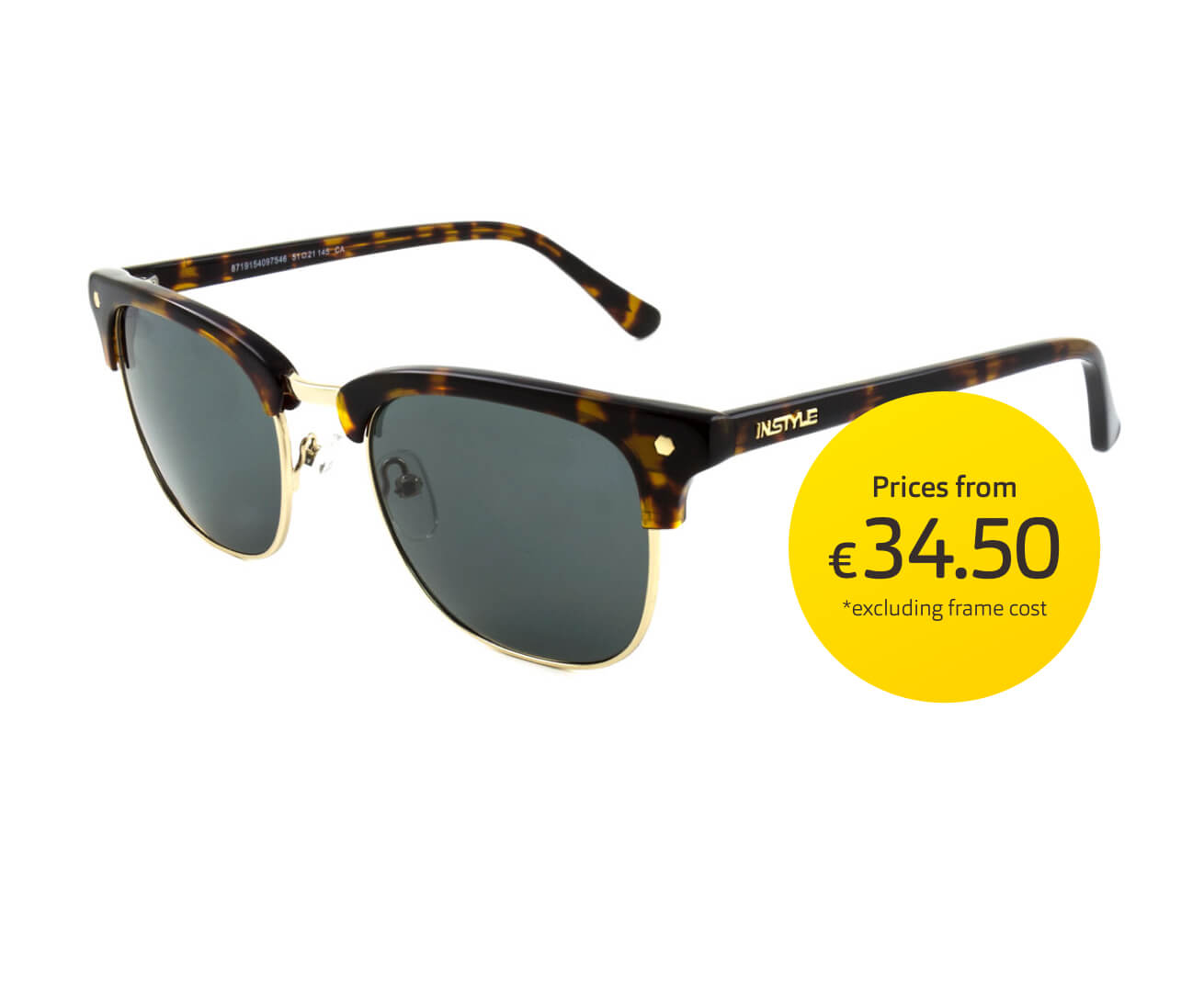 A pair of brown tortoiseshell Instyle sunglasses