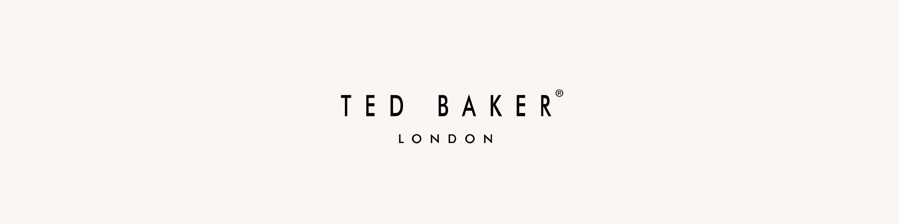 Ted Baker logo on background