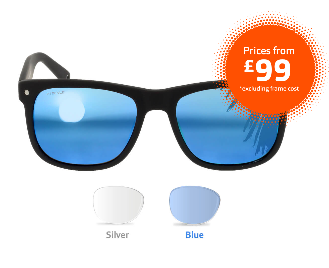 in Style Sunglasses - Black/Blue