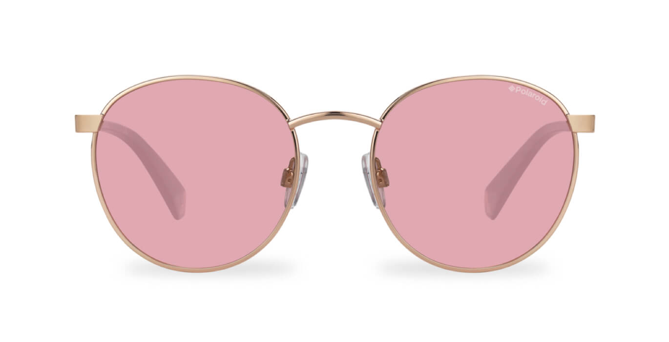 Polaroid x Love Island Official Sunglasses - Round Pop - Rose Gold