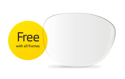 Prescription glasses - single vision lenses free with all frames